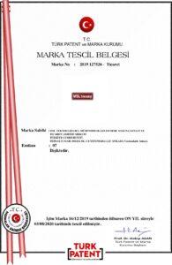 MSL Teknoloji Marka Tescil Belgesi