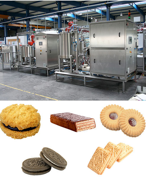 Complete Lines for Production of Cream for Wafers